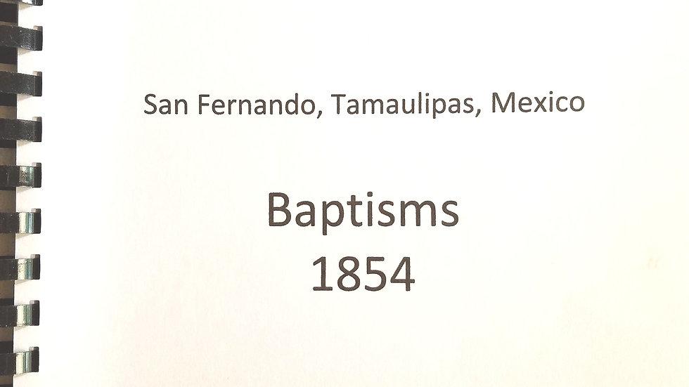 San Fernando de las Presas Baptisms 1854 (Tamaulipas, Mexico)
