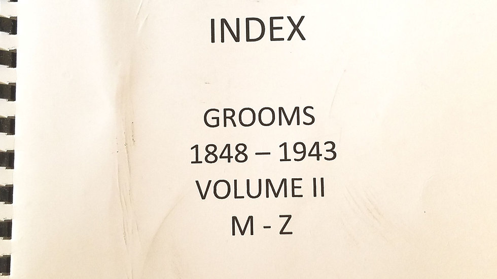 Cameron County Texas Marriage Records Index -Grooms 1848-1943