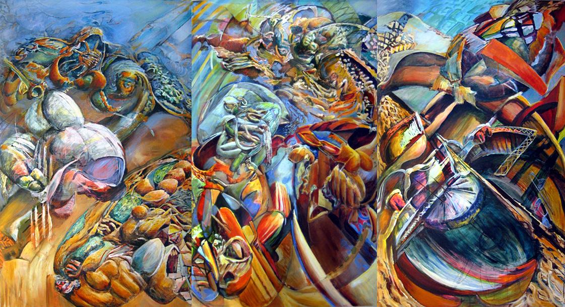 Annunciated Again (Triptych)