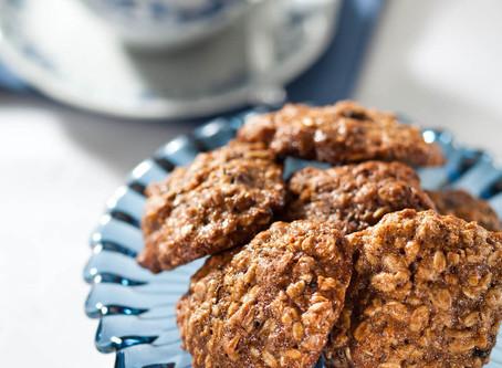 E para o lanchinho da tarde? Cookies de aveia!