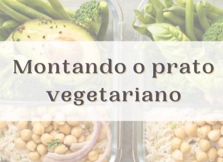 Montando o prato vegetariano