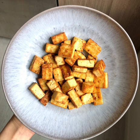 10 Minute Golden Tofu