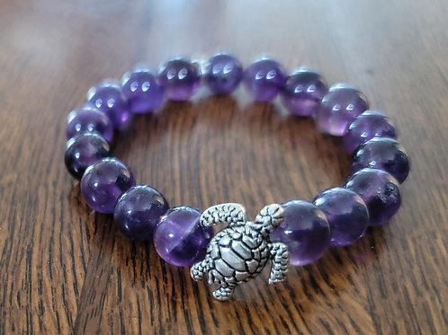 Turtle Amethyst  Bracelet