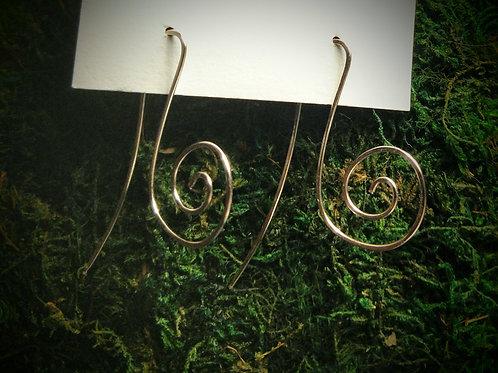 G Major Hammered Earrings