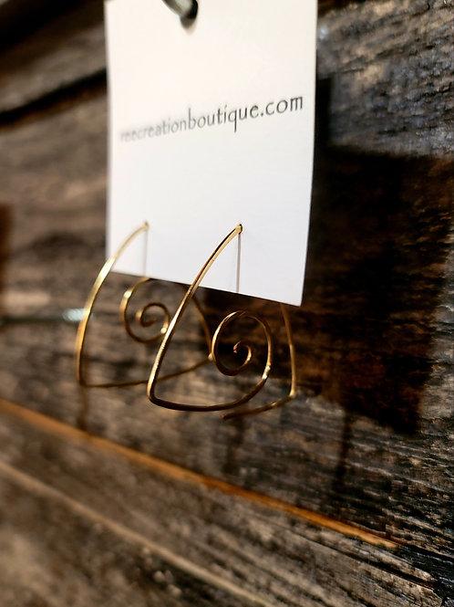 3Divine Hammered Earrings