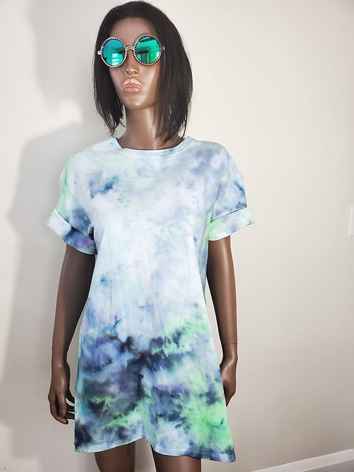 Teal Aqua T-shirt  Dress