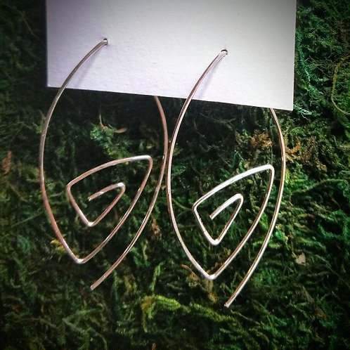 First Down Hammered Earrings