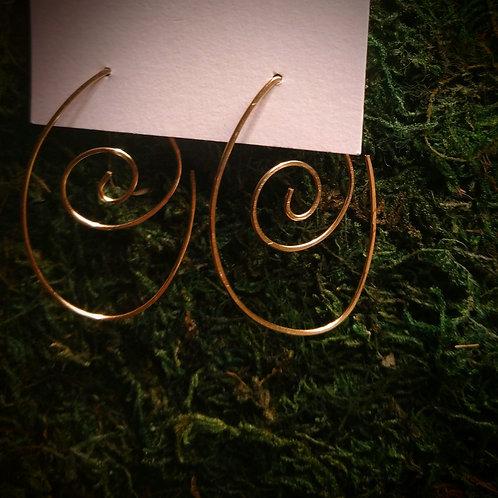 Drop an Roll Hammered Earrings (Medium)