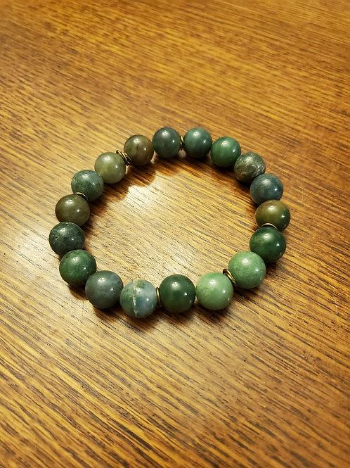 Green Tree Agate Bracelet