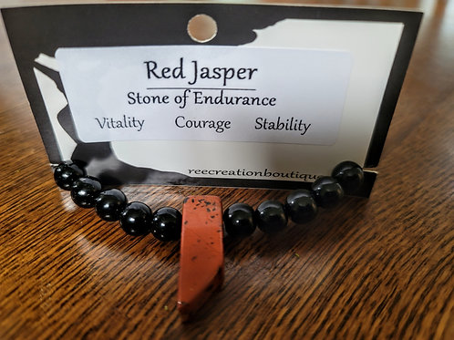 Red and Black Jasper  Bracelet