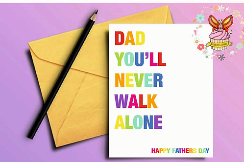 Liverpool Themed Fathers Day Card