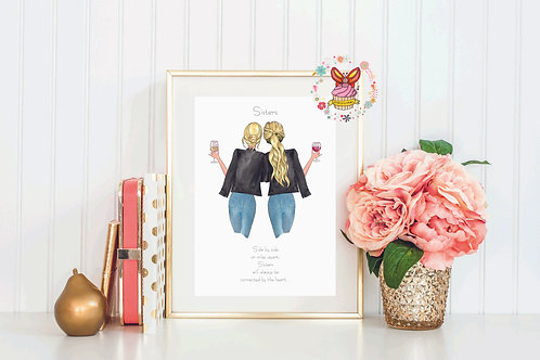 Miss You Bestie/Sister Print