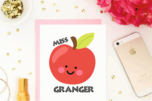 Teacher Apple Cards
