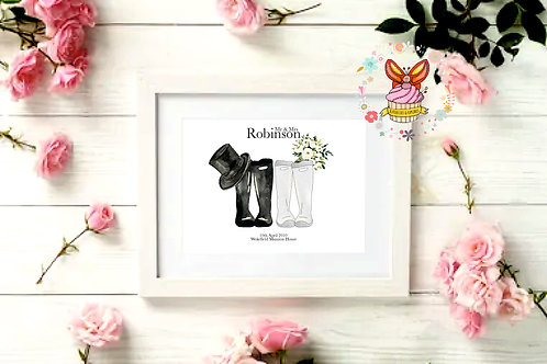 Wedding Welly Prints