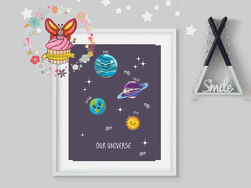 Out Of The World - Family Print