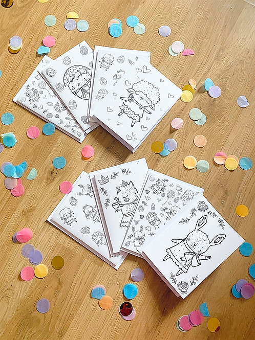 Colour Your Own Easter Cards