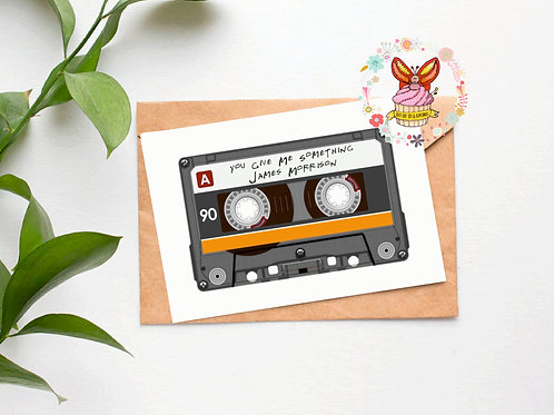 Play It - Cassette Tape Card