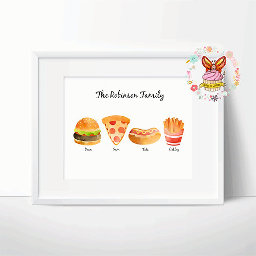 Fast Food Family Print