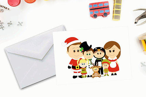 SweetPea Christmas Cards 6 to 8 Characters