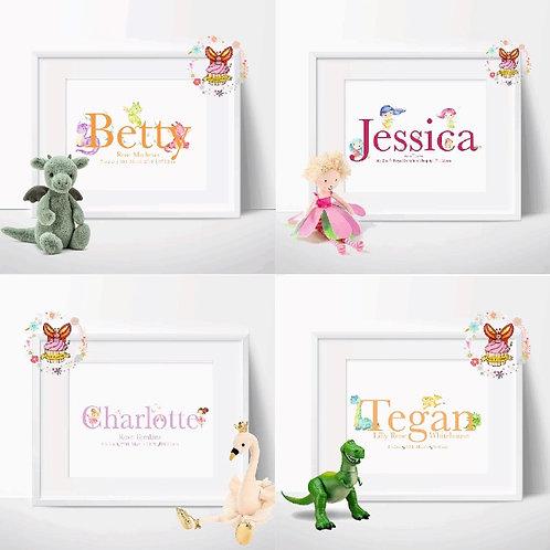 Childrens Name Print