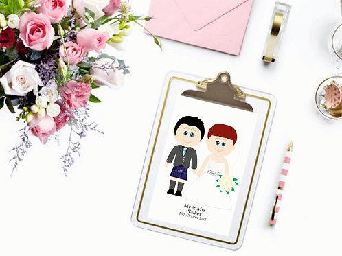 SweetPea Wedding Print