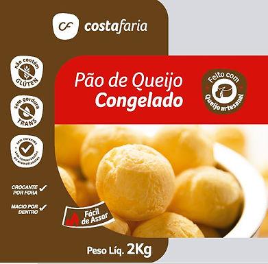 174 - CX. c/8 PCT Pão de queijo CF Tradicional 2kg