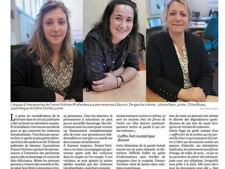 Saumur, L'aide aux Victimes se renforce pour accompagner les victimes de l'agglomération