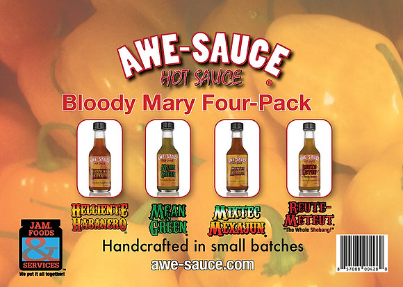 AWE-SAUCE Bloody Mary Four Pack