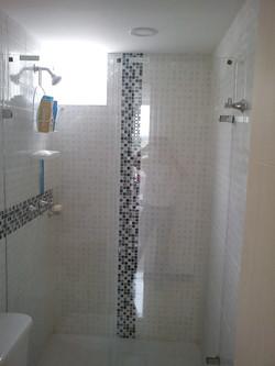 División de baño batiente