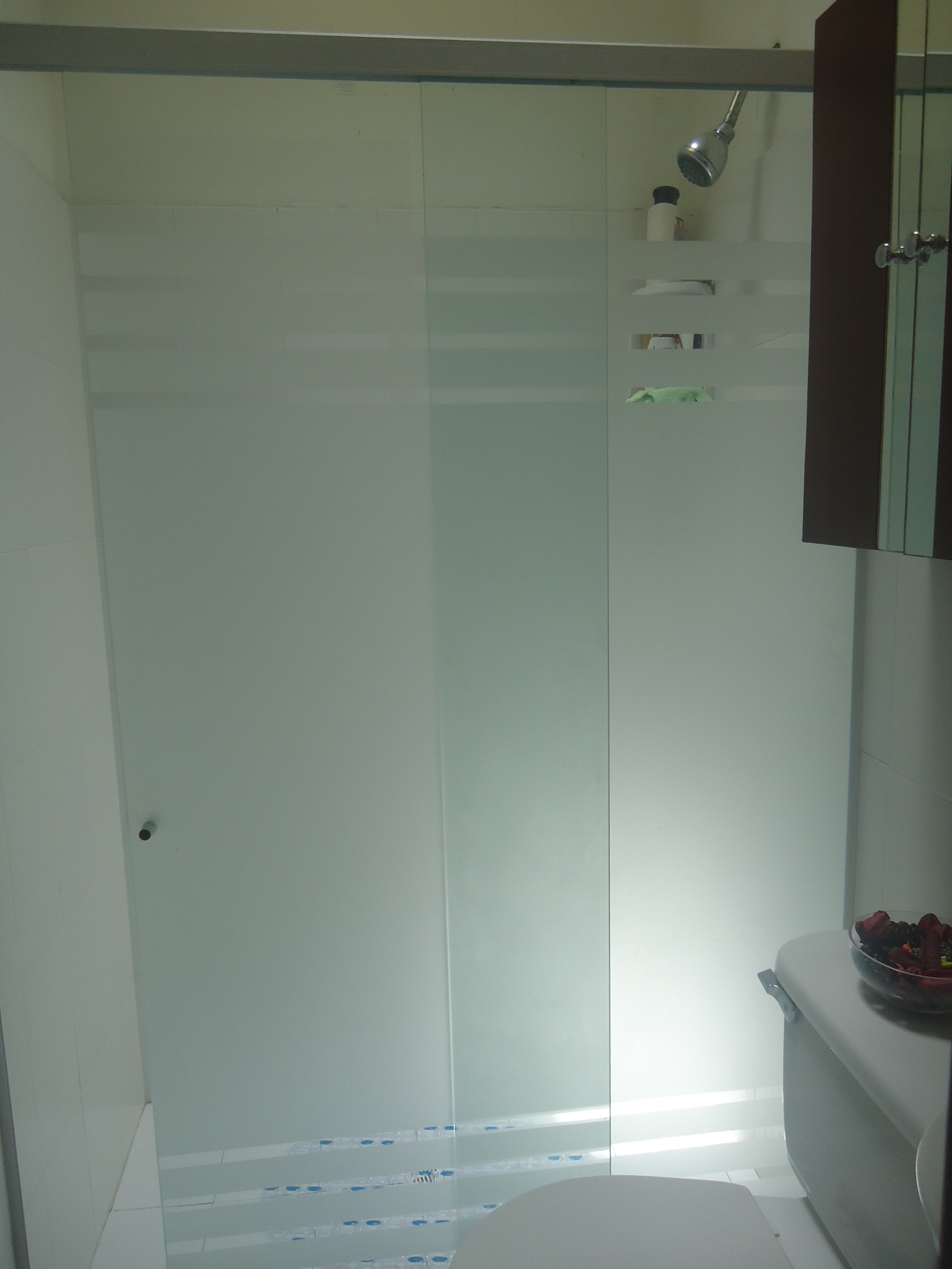 División de baño corrediza