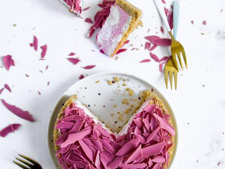 טארט עוגת גבינה ושוקולד רובי