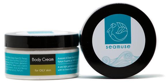 Body Cream with Avocado & Grape Seed Oil - Oily Skin 100ml