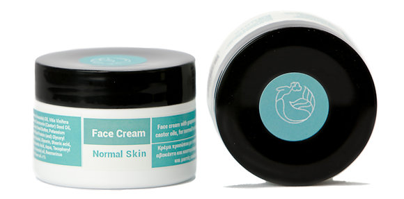 Face Cream for Normal Skin with Grapeseed, Avocado and Castor Oils