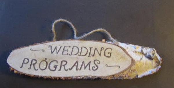 Wedding Programs sign