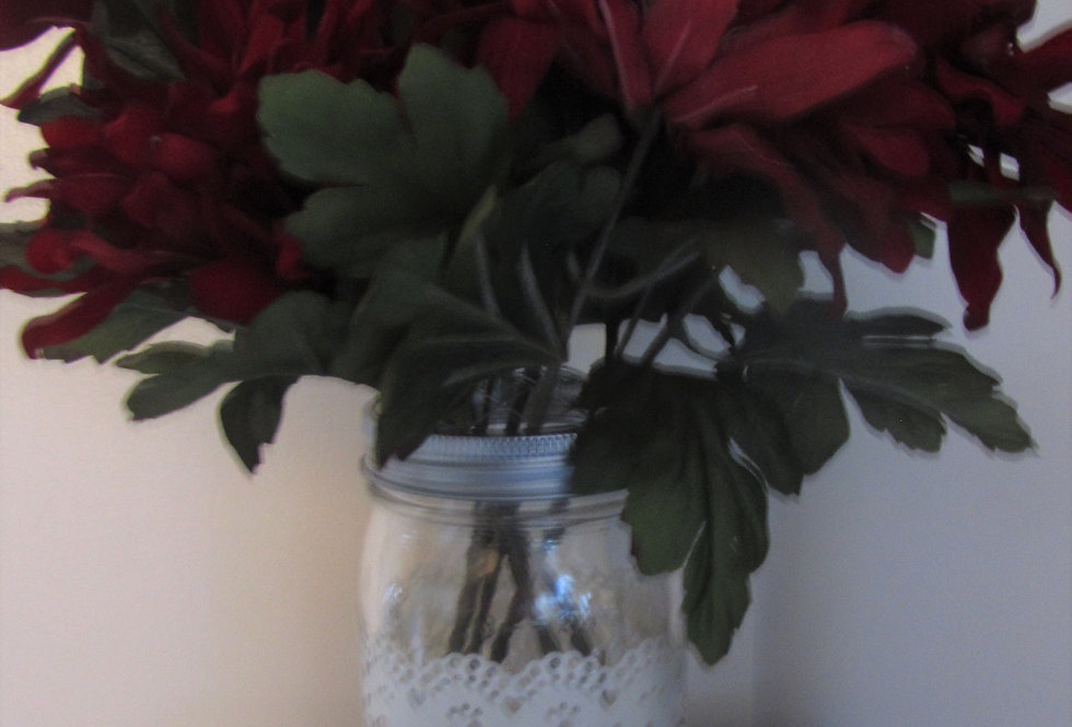 MASON JARS WITH PUNCH CUT SLEEVES