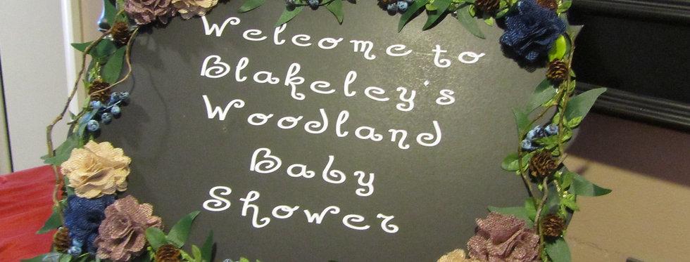 Woodland Chalkboard Sign