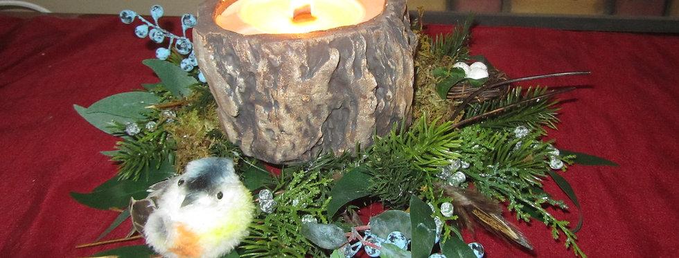 Woodland Candle Centerpiece