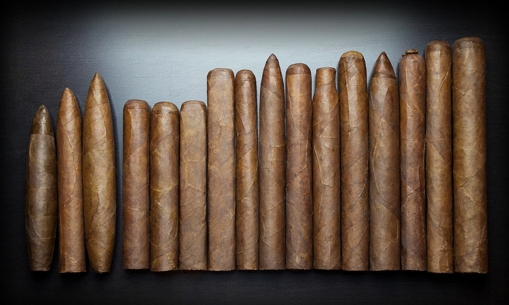 variety of hand rolled cigars
