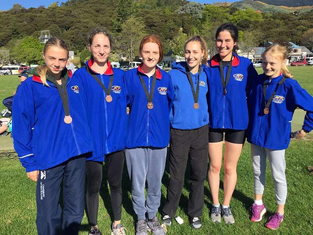 The bronze medal winning Junior Women's team