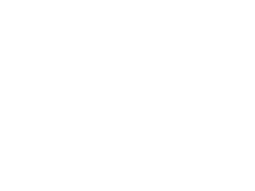 The Corn Dolly Triptych Logo 2021 white.