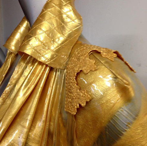 Letitia Hill, Golden Jacket Detail