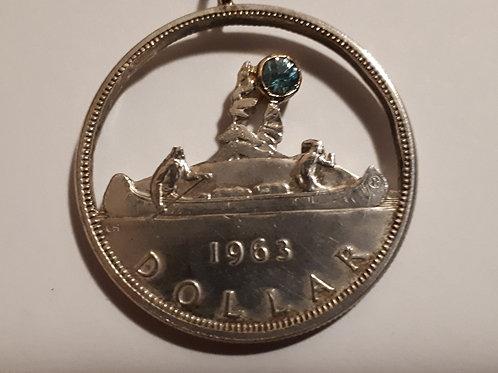 Blue Moon Canadian Silver Dollar