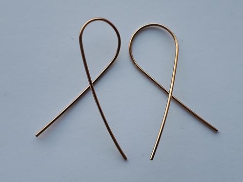 Gold Wire Fish Earrings