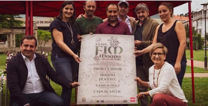 Presentación do cartel do XXXIV Festival Intercéltico do Morrazo (Moaña, Galicia)