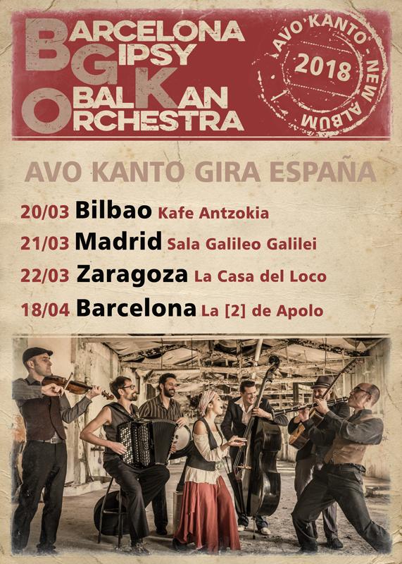 Próximos conciertos de la Barcelona Gipsy Balkan Orquestar