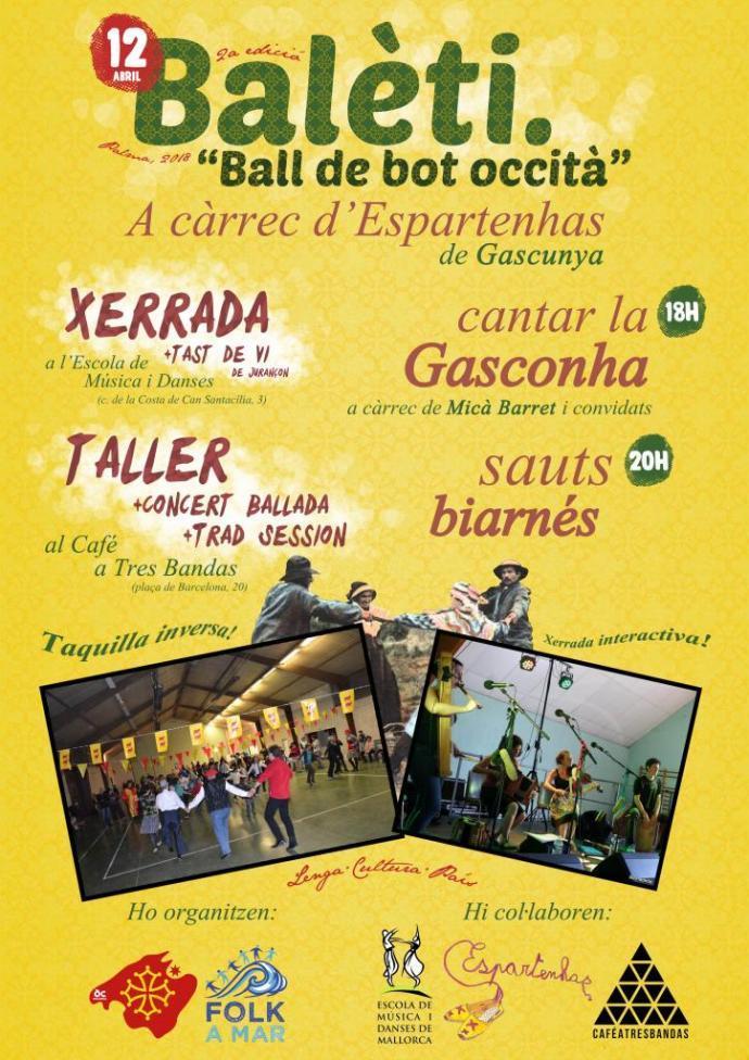 Òc Mallorca & Folk a Mar organizan la 2ª edición de la Jornada Balèti en Palma