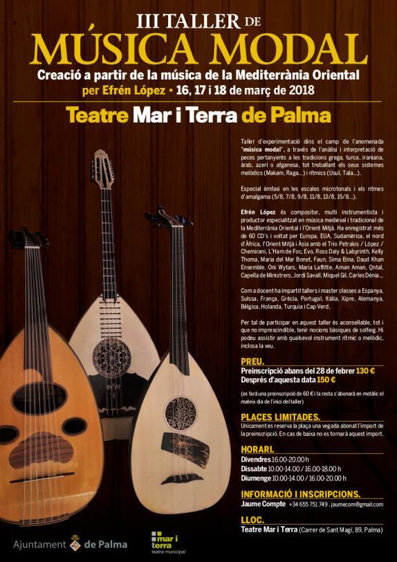 Efrén López y Kelly Thoma actuarán este sábado en el Mar i Terra dentro del ciclo 'Palma Folk&#3