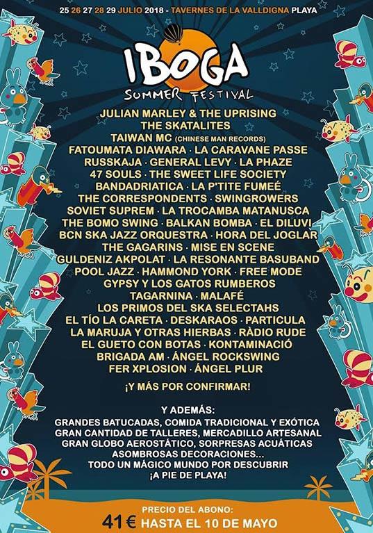 IBOGA SUMMER FESTIVAL INCORPORA A SU CARTEL GRANDES BANDAS INTERNACIONALES A SU CARTEL 2018