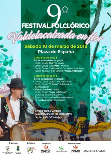 9º Festival Folclórico Valdelacalzada en Flor