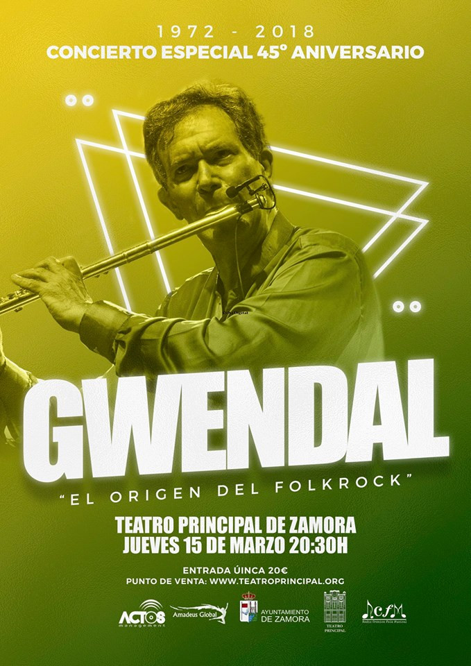 Primer concierto de la gira del 45º Aniversario de Gwendal en España